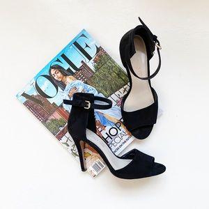 Aldo Strap Sandal Heels Black Size 7